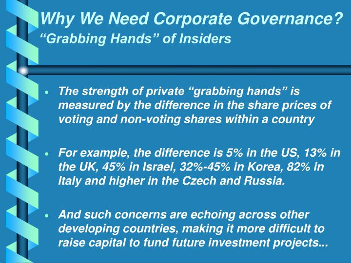 Why We Need Corporate Governance?