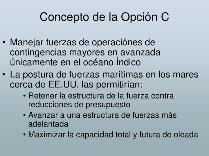 Concepto de la Opción C