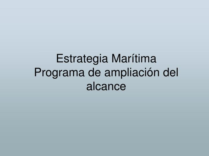 Estrategia Marítima
