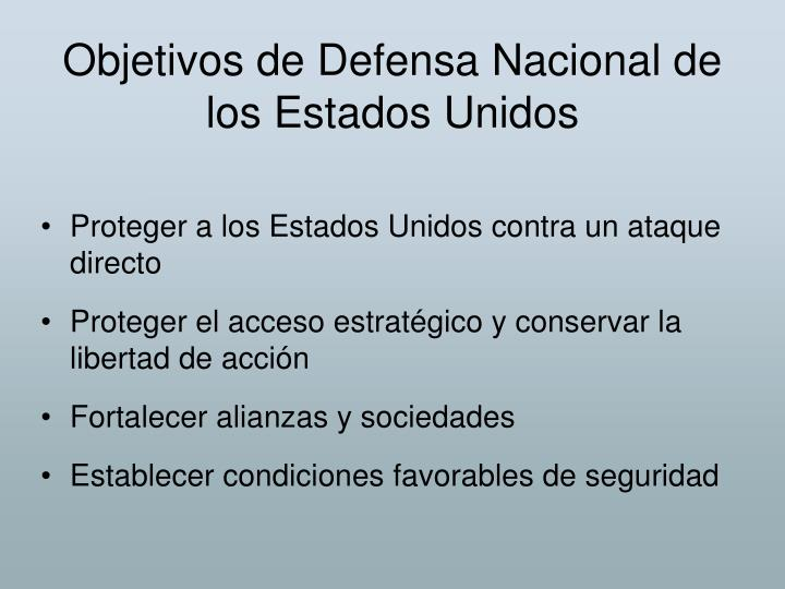 Objetivos de Defensa Nacional de