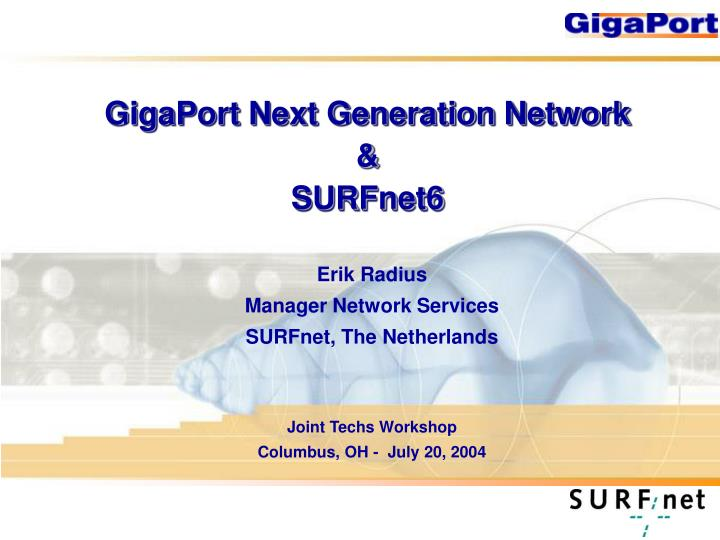 Gigaport next generation network surfnet6