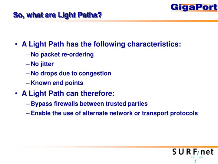So, what are Light Paths?