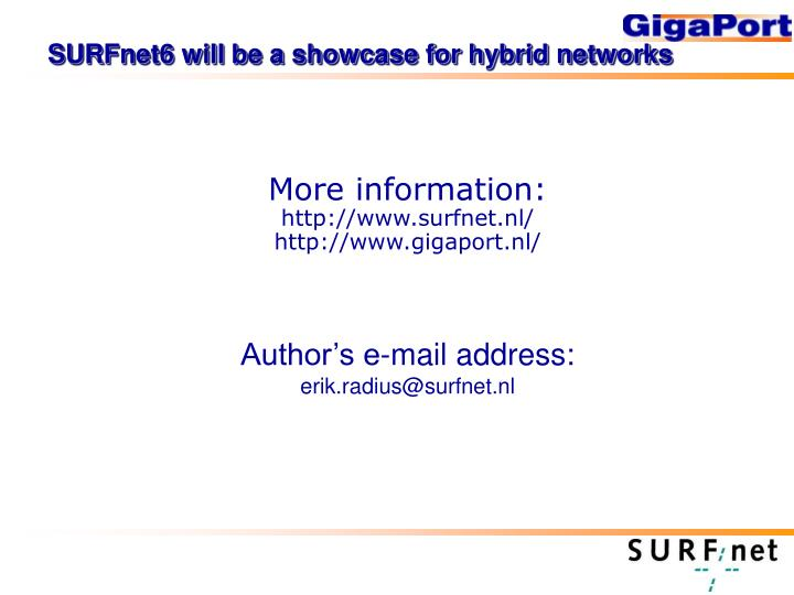 SURFnet6 will be a showcase for hybrid networks