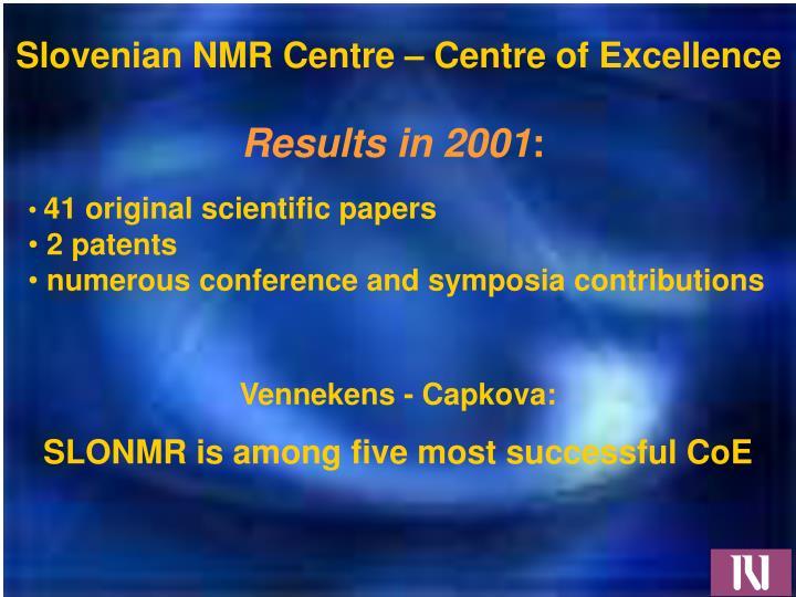 Slovenian NMR