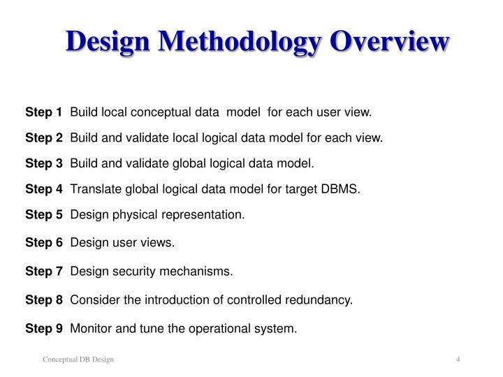 Design Methodology Overview