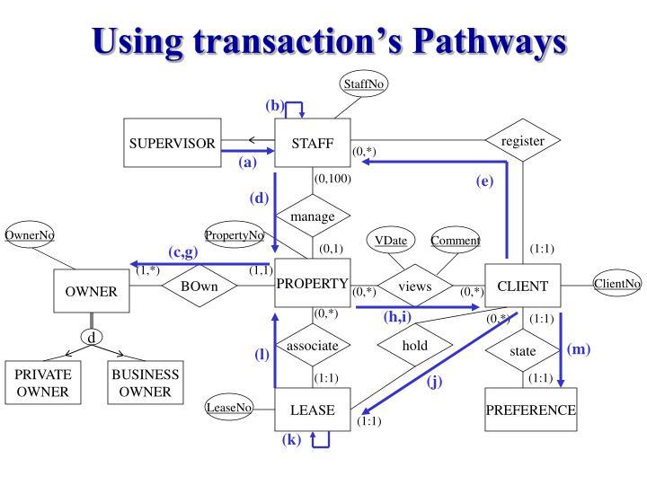 Using transaction's Pathways