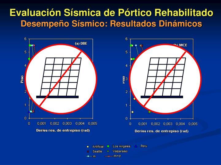 Evaluación Sísmica de Pórtico Rehabilitado