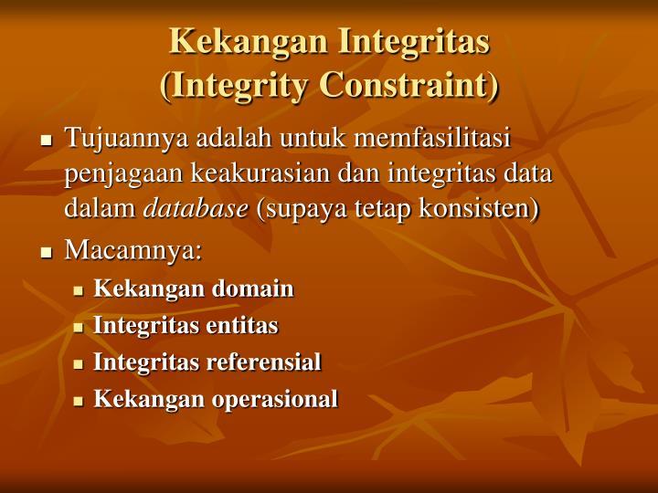 Kekangan Integritas