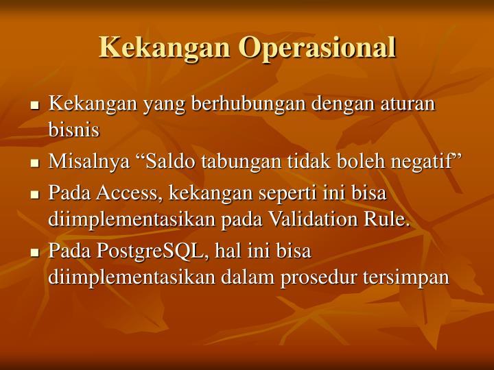 Kekangan Operasional