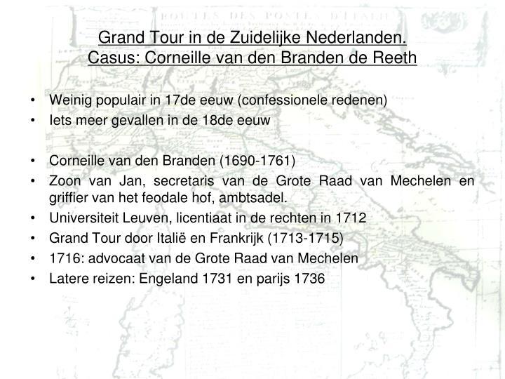 Grand Tour in de Zuidelijke Nederlanden.