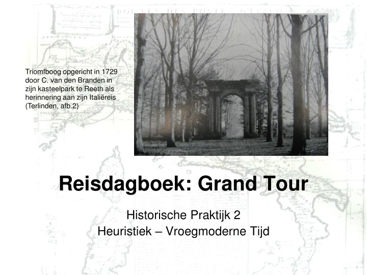 Reisdagboek grand tour