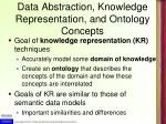 data abstraction knowledge representation and ontology concepts