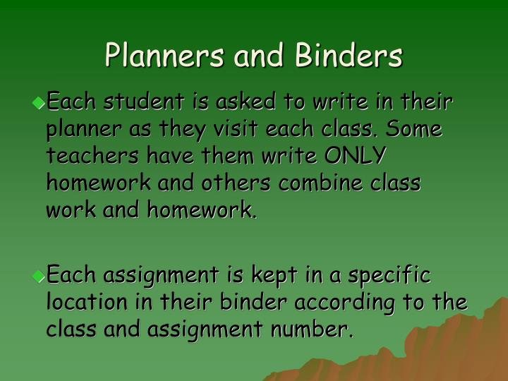 Planners and Binders