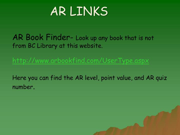 AR LINKS