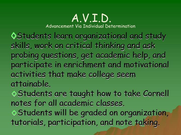 A.V.I.D.