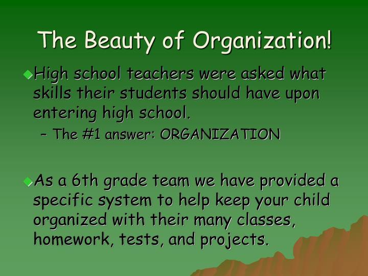The Beauty of Organization!
