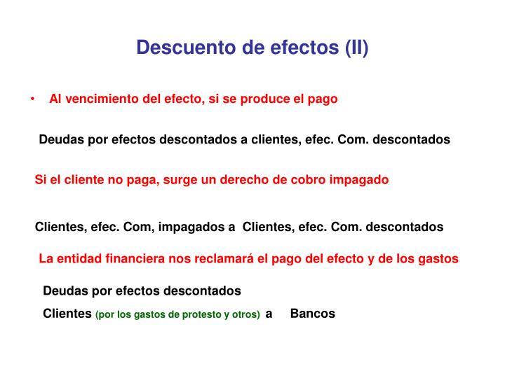 Descuento de efectos (II)