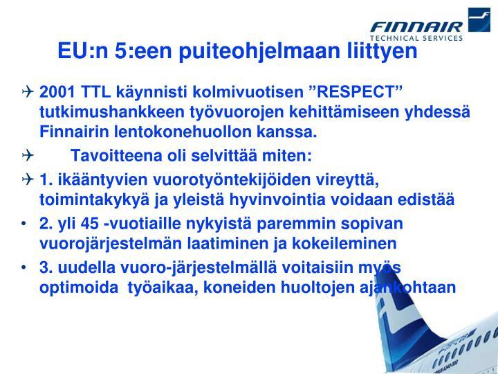 EU:n 5:een puiteohjelmaan liittyen
