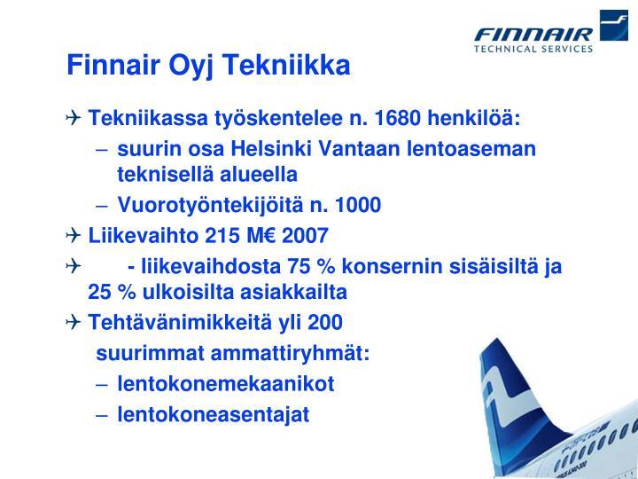 Finnair Oyj Tekniikka