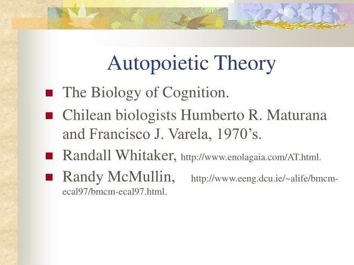 Autopoietic Theory