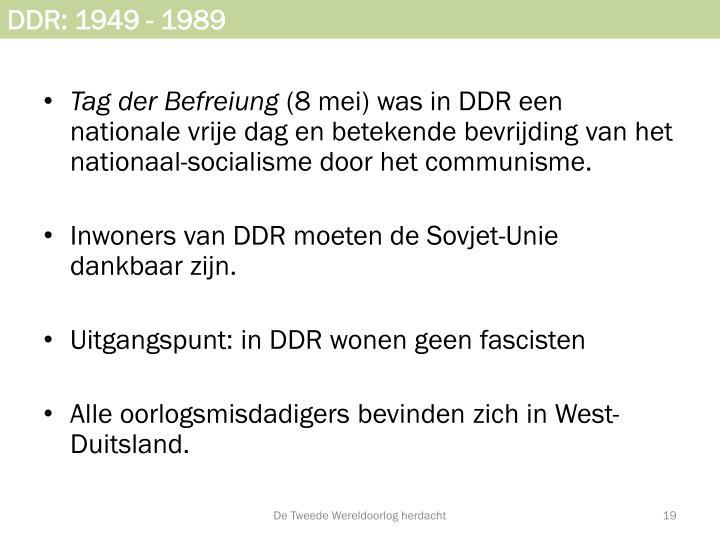 DDR: 1949 - 1989