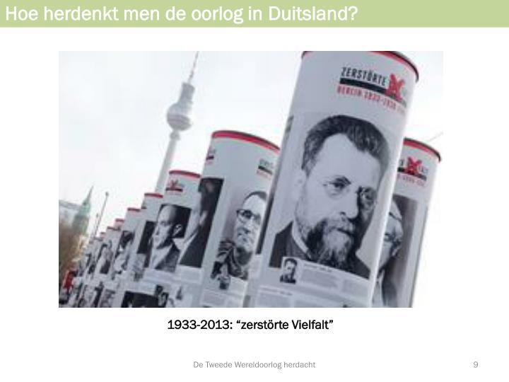 Hoe herdenkt men de oorlog in Duitsland?