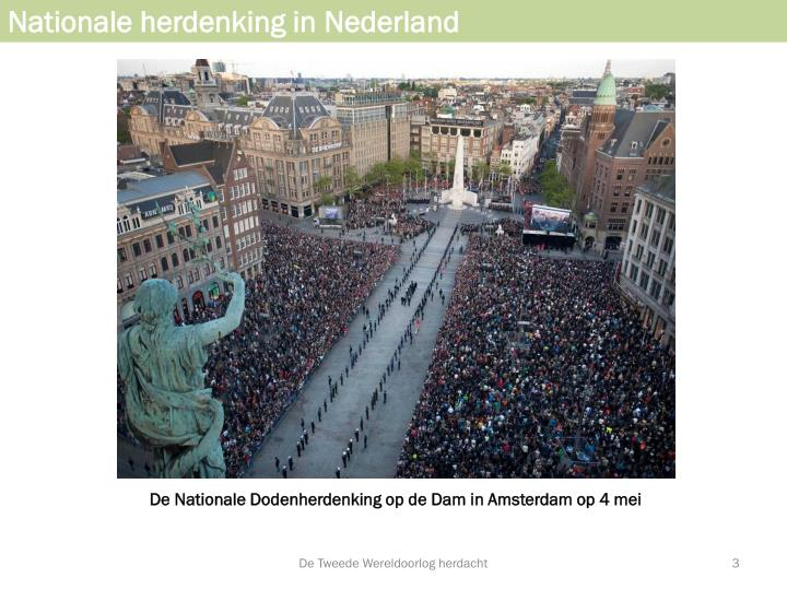 Nationale herdenking in nederland