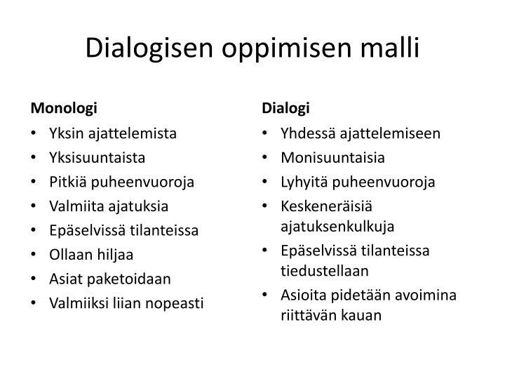 Dialogisen oppimisen malli
