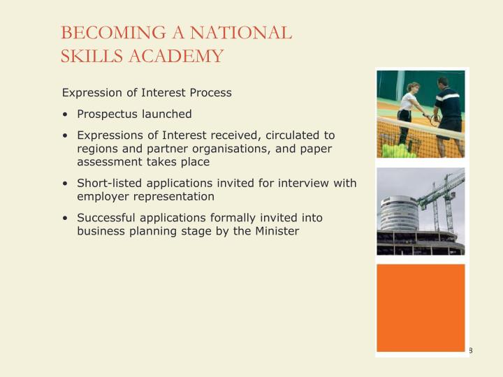 BECOMING A NATIONAL SKILLS ACADEMY