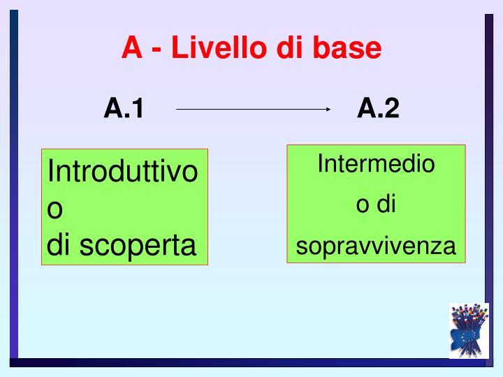A - Livello di base
