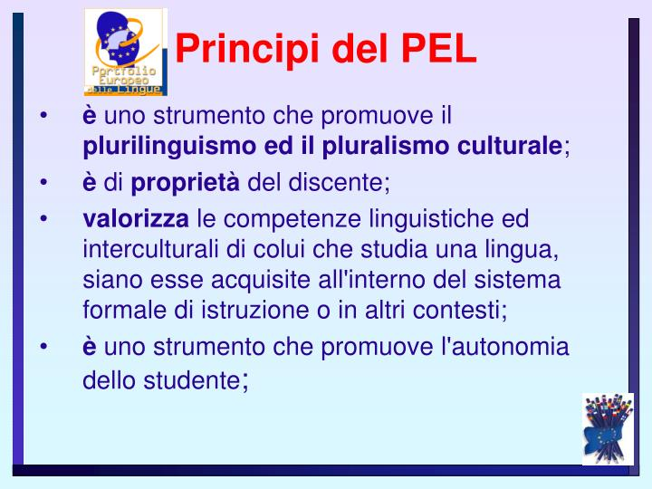 Principi del PEL