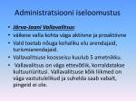 administratsiooni iseloomustus