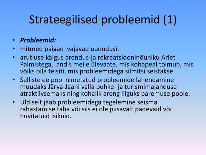 Strateegilised probleemid (1)