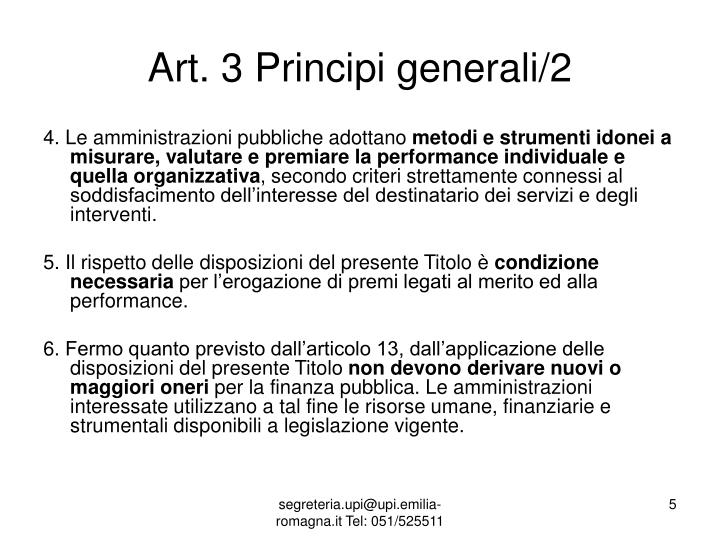 Art. 3 Principi generali/2