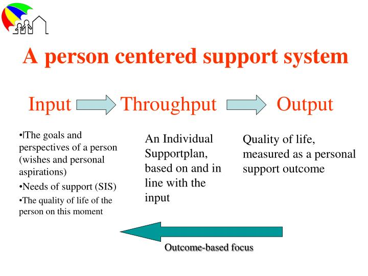 A person centered support system