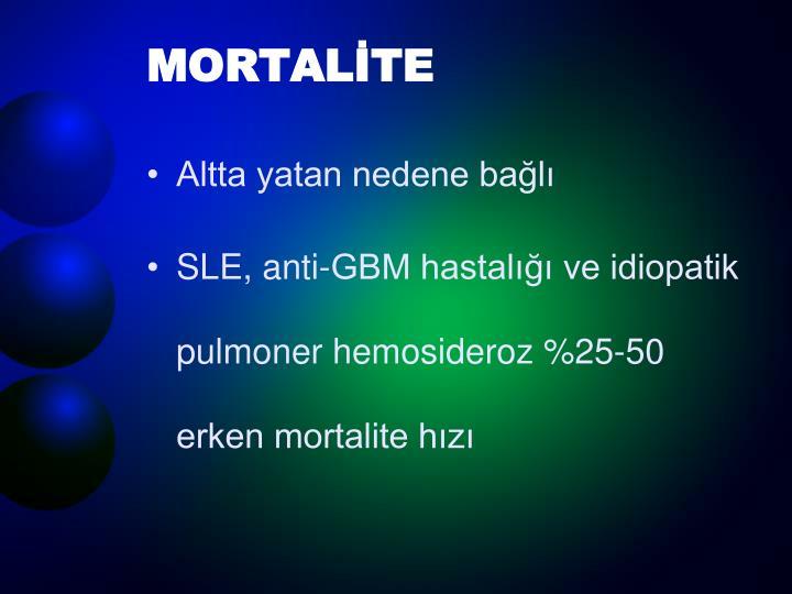 MORTALİTE