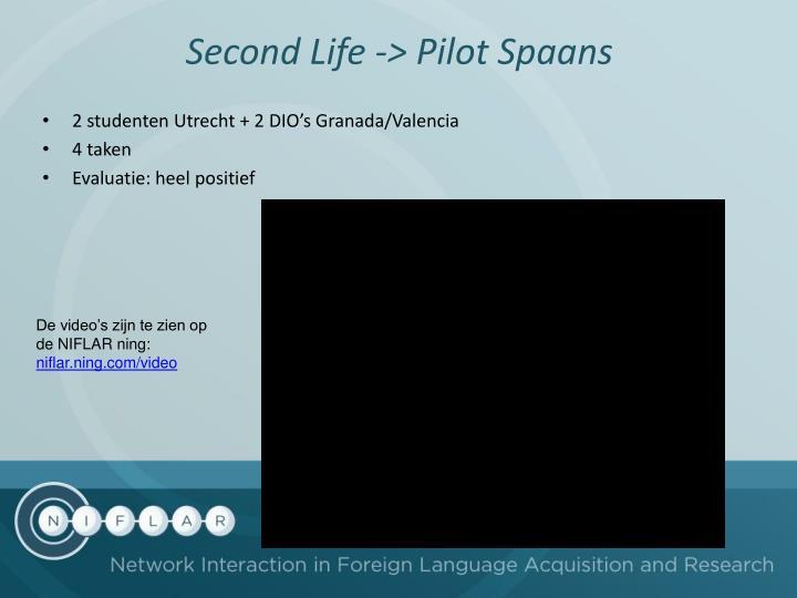 Second Life -> Pilot Spaans