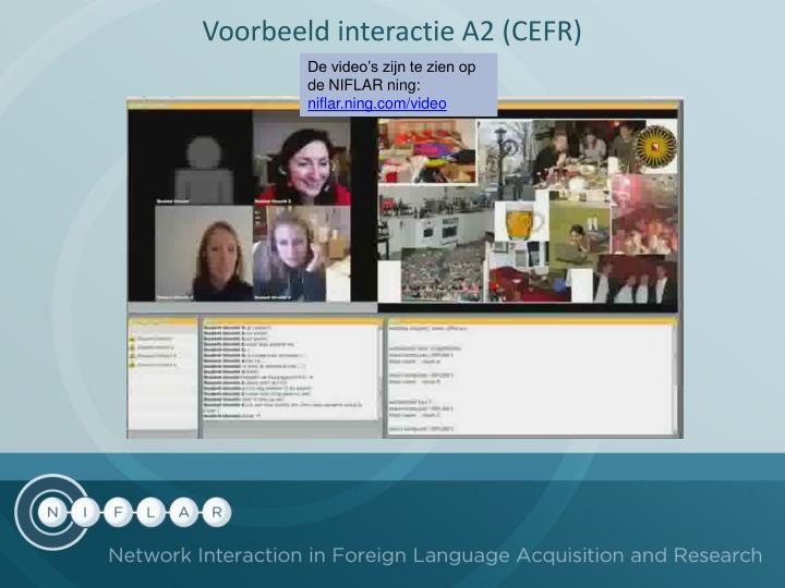Voorbeeld interactie A2 (CEFR)