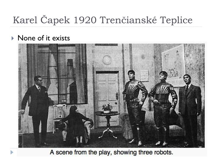 Karel Čapek 1920 Trenčianské Teplice