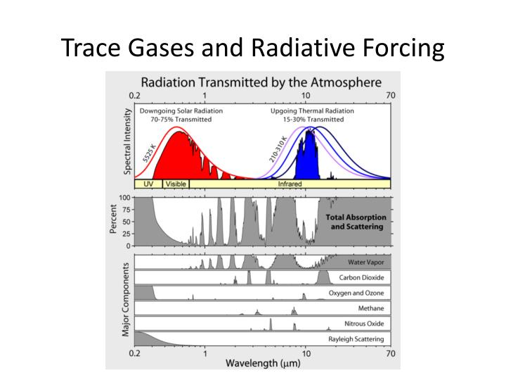 Trace gases and radiative forcing