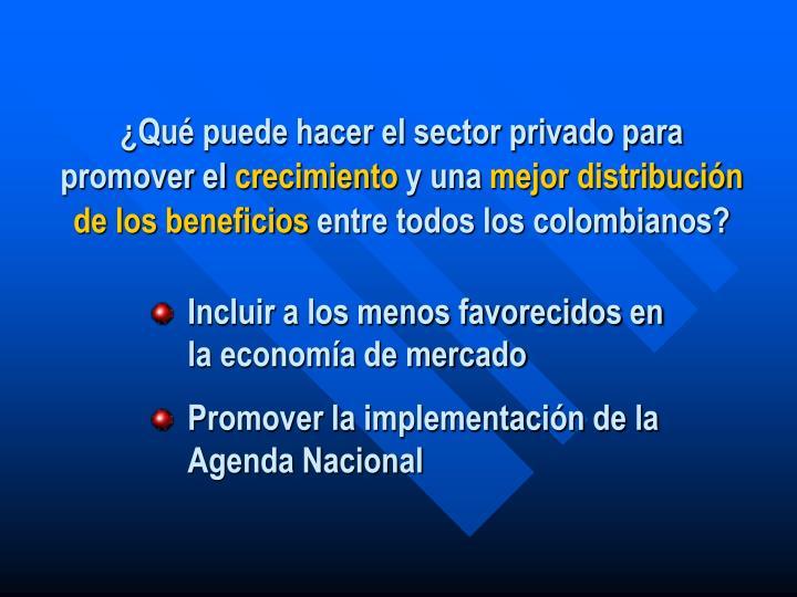 ¿Qué puede hacer el sector privado para promover el