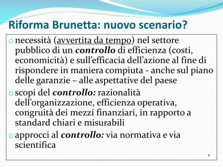 Riforma Brunetta: nuovo scenario?