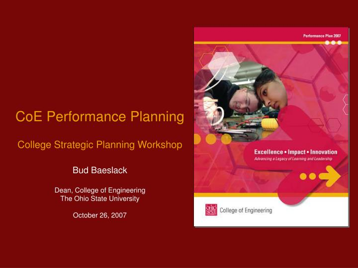 CoE Performance Planning