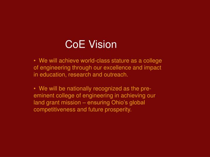 CoE Vision