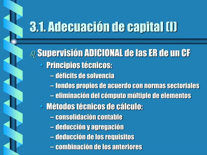 3.1. Adecuación de capital (I)
