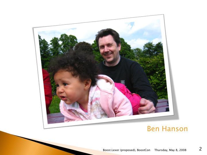 Ben Hanson