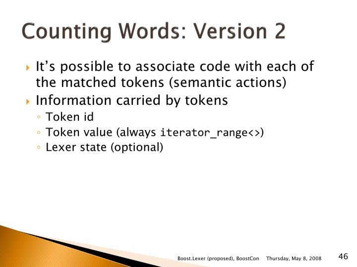 Counting Words: Version 2