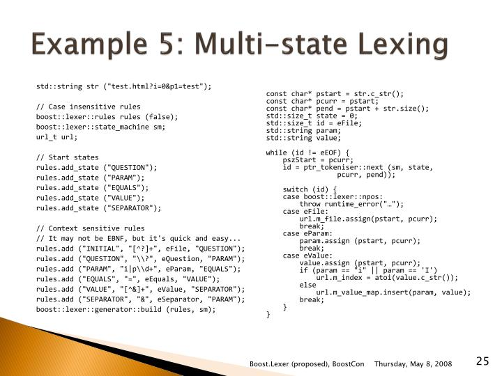 Example 5: Multi-state