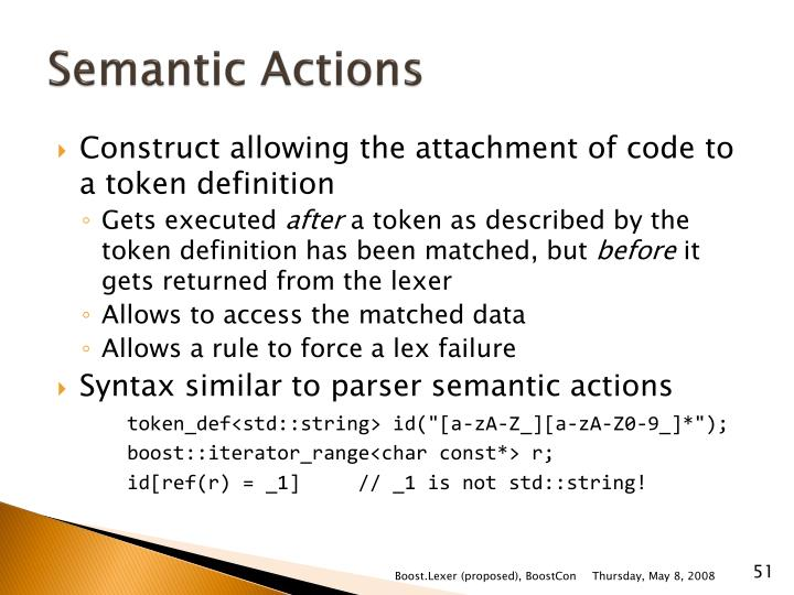 Semantic Actions