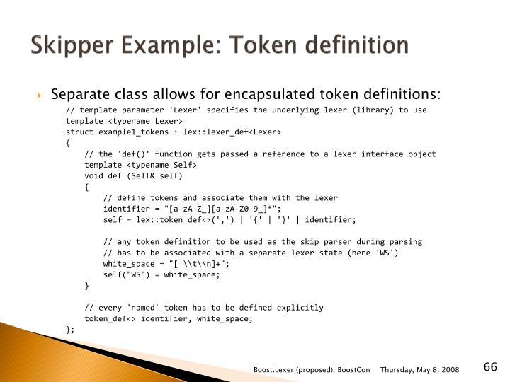 Skipper Example: